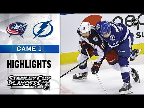 NHL Highlights | First Round, Gm1: Blue Jackets @ Lightning – Aug. 11, 2020