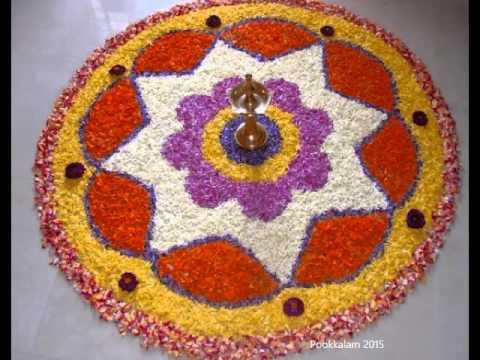 onam pookalam designs by sujith chandran