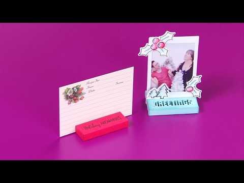 Holiday Placecard and Photo Stand with Lynda Kanase