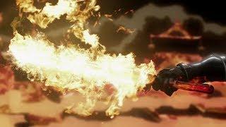 Lion Fire Flame Strike!