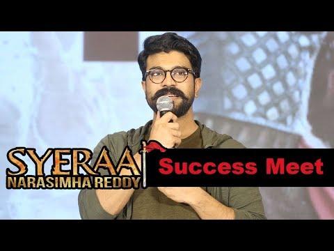 Ram Charan at Syeraa Narasimhareddy Movie Success Meet Event