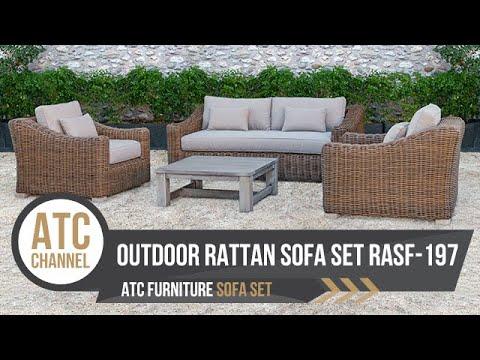 Outdoor Round Rattan Sofa Set RASF-125 | ATC Furniture | 2019