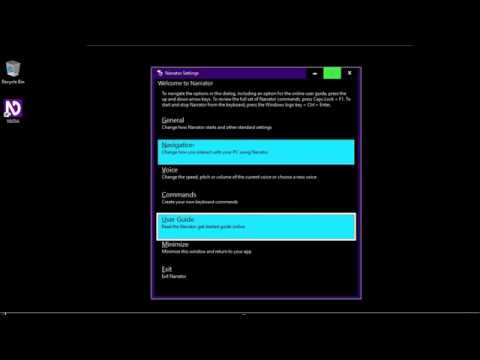 Download Get Started With Narrator Screen Reader In Windows 10 Micr