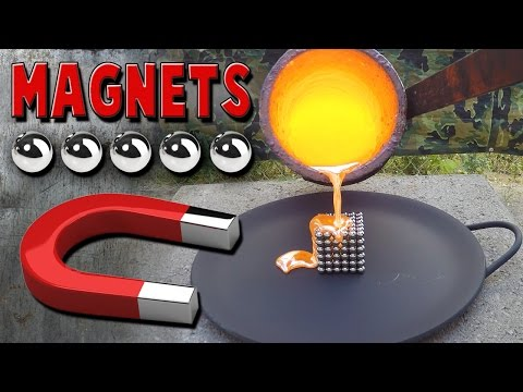 Molten Copper vs Neodymium Magnets aka Buckyballs / NeoCube / Zen Magnets
