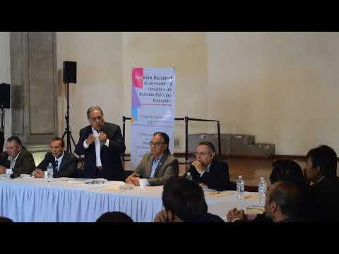 El diputado local Luciano Jimeno Huanosta habla del frente