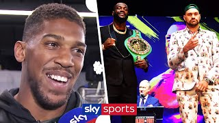 Anthony Joshua explains WHY he's supporting Tyson Fury over Deontay Wilder