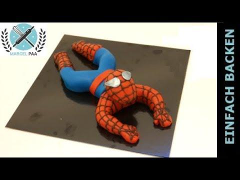 Spiderman aus Fondant modellieren mit Anleitung
