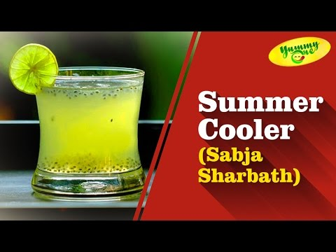 Summer Cooler (Sabja Sharbath) Drink Recipe