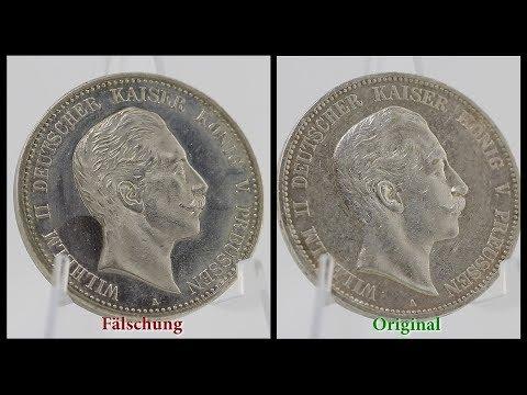 Münzfälschungen - Tutorial: So erkennst du falsche Kaiserreich Silbermünzen - Fake - 5 Mark Preussen