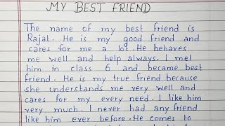 Write an essay on My Best Friend | Essay Writing | English