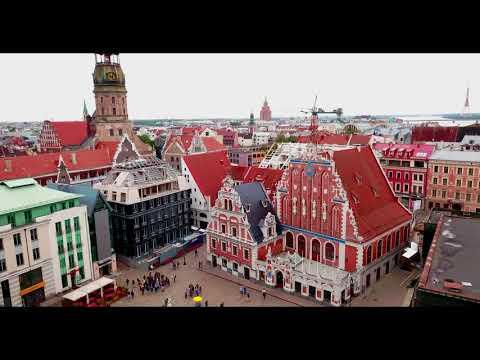 סרטון באיכות 4K מרשימה שמציג את נופיה הקסומים של עיר הבירה הלטבית - ריגה