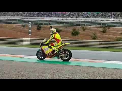 Burnout Valencia Moto2 Domi #77