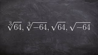 Learn what the root of a number means with even and odd roots
