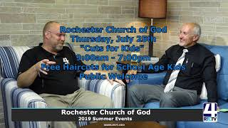 Rochester Church of God 2019 Summer Events