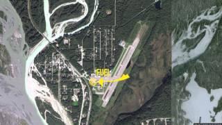 Watch us fly into Talkeetna Airport in Alaska