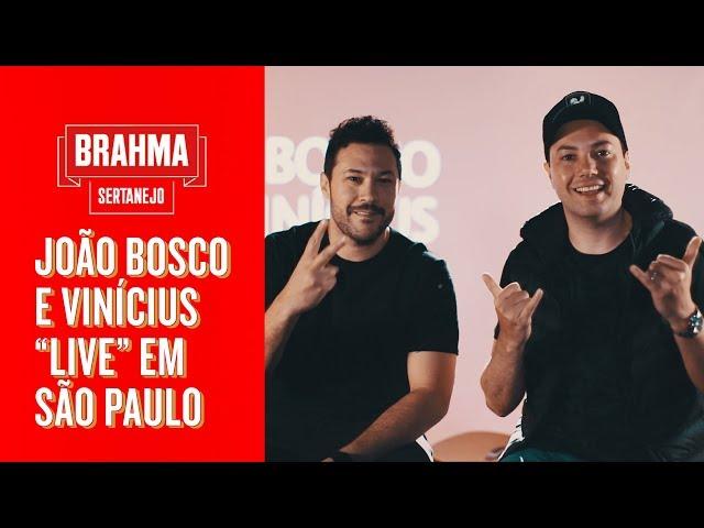 """JOÃO BOSCO E VINÍCIUS """"LIVE"""" EM SP"""