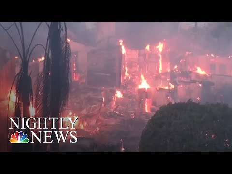 California Burn Zone Is The Size Of Chicago | NBC Nightly News