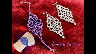 DIY Seed Bead Bracelet Or Earrings    Macrame Inspired Beading    How To Make Seed Beads Bracelet
