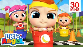 Come on Let's Race, Race, Race! + More Nursery Rhymes | Little Angel Kids Songs