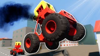 LITTLE TIKES MONSTER TRUCK RACE! - Brick Rigs Multiplayer Gameplay - Lego Racing