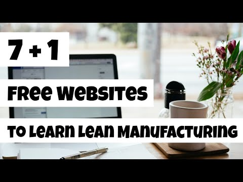 Lean Manufacturing Training - 7+1 Websites to Learn Lean - YouTube