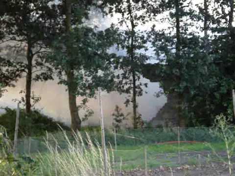 Schuur in brand Radioweg Stevensbeek