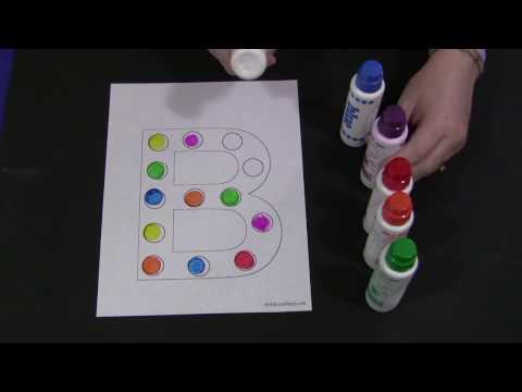 Screenshot of video: Alphabet dot activity.
