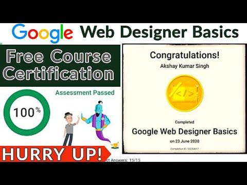 Google FREE Certification | Google Web Designer Basics Course ...