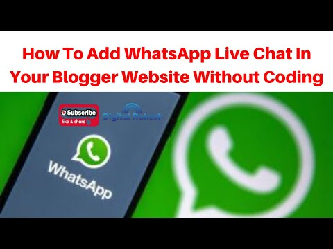 How to add WhatsApp live chat in your blogger website without coding