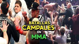 7 GRANDES INCIDENTES y BATALLAS CAMPALES en UFC - MMA