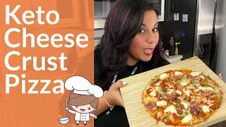 5 min | Quick And Easy Keto Pizza | Cheese Crust Low Carb Keto Recipes