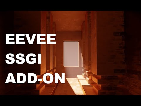 Blender 2.83 Eevee SSGI add-on