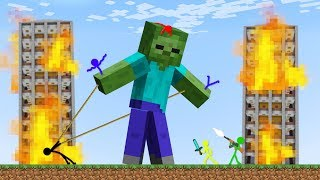 Stickman VS Minecraft: Zombie Apocalypse 2 - AVM Shorts Animation