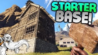 "GangZ Rust Gameplay - ""STARTER BASE & FREEZING TO DEATH!!!"" - Rust PvP Multiplayer Ep 1"