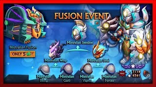 Knights and Dragons - FUSION EVENT MADNESS!! 52 Mistralian Chests Opening! w/Dragonforged Fusions!