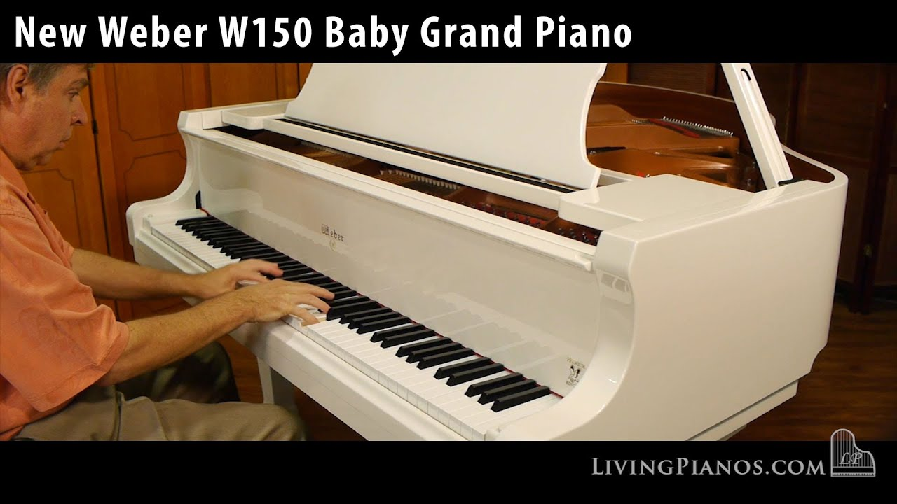 New White Weber Baby Grand Piano For Sale Living Pianos