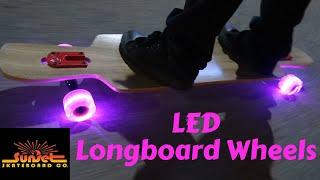 LED Longboard Wheels from Sunset Skateboards