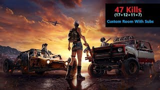 "[Hindi] PUBG Mobile | Custom Room Game ""47 Kills"" Funny End Zone With Subs"