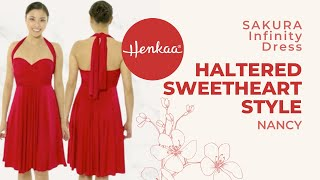 How To Wear A Convertible Infinity Dress In Sweetheart Halter Style - Nancy SAKURA