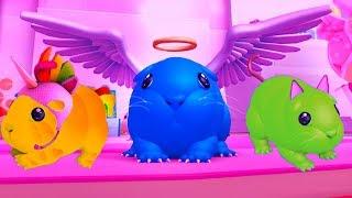 СИМУЛЯТОР Маленькой Морской свинки хомячка. Кид мышонок стал ангелом, котенком и единорогом #КИД