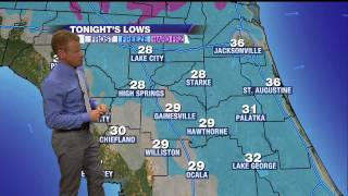 Widespread Freeze and Frost Expected Tonight in North Florida