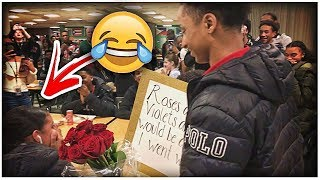 HIGH SCHOOL PROM PROPOSAL GONE WRONG! SHE SAID NO😂😐