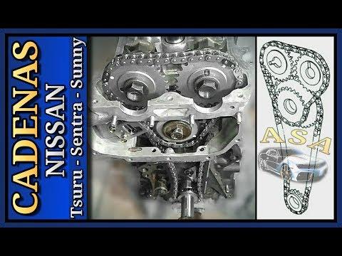 Фото к видео: CADENA DE TIEMPO, Nissan Tsuru, Sentra, Sunny, Como SINCRONIZAR el MOTOR