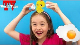 ЧЕЛЛЕНДЖ разбей яйцо над головой / Арина играет с мамой