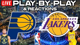 Indiana Pacers vs Los Angeles Lakers   Live Play-By-Play & Reactions
