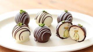 クリームチーズ・チョコトリュフの作り方&ラッピング Cream Cheese Chocolate Truffle|HidaMari Cooking
