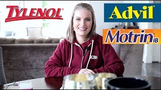 TYLENOL VS  MOTRIN?   Medical Minute Monday Episode #2