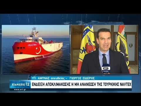 Τουρκία | Ένδειξη αποκλιμάκωσης η μη ανανέωση της τουρκικής NAVTEX | 13/09/2020 | ΕΡΤ