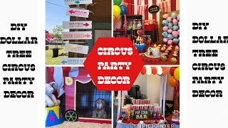 DIY Dollar Tree Circus Party Decor
