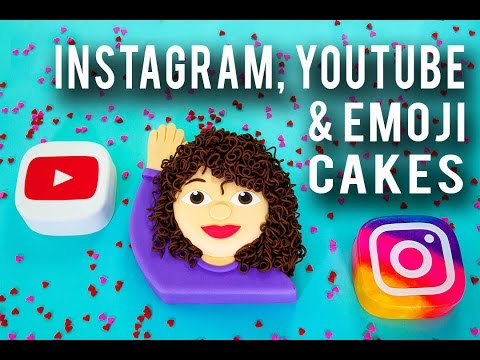 How To Make SOCIAL ICON CAKES! Chocolate Icon Cakes & An Emoji That Looks Just Like ME!